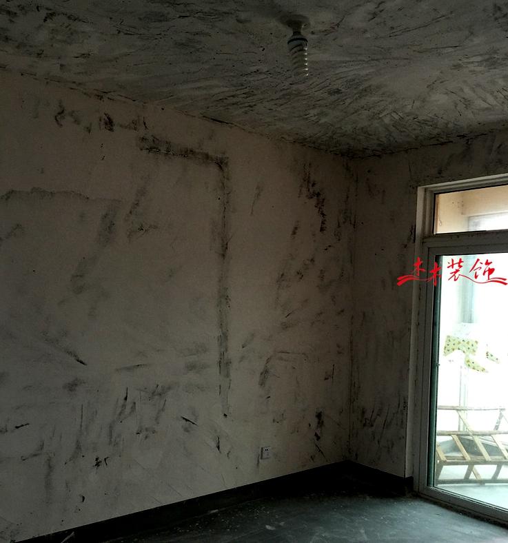 成都木木装修队墙面铲除施工现场 装修现场