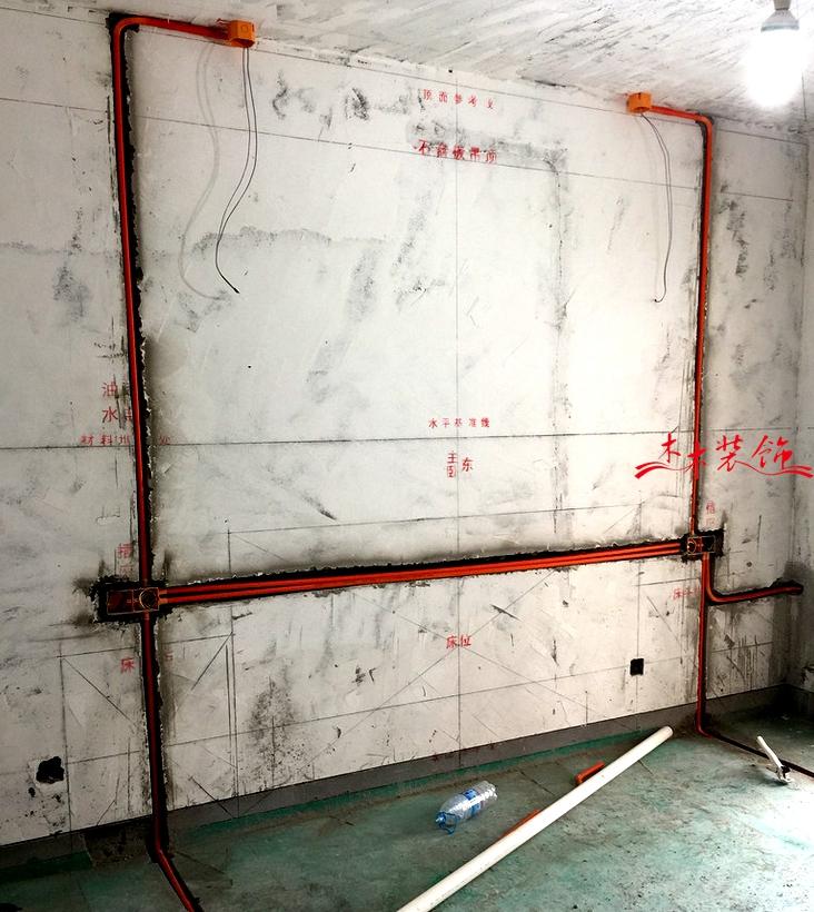 成都木木装修队水电施工细节图 装修现场