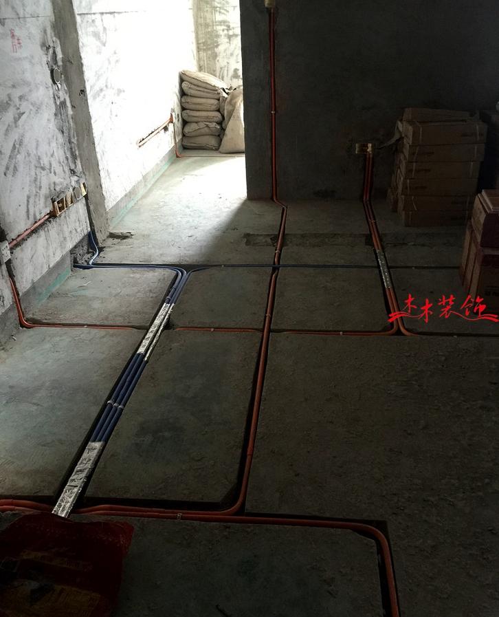 成都木木装修队水电完工现场