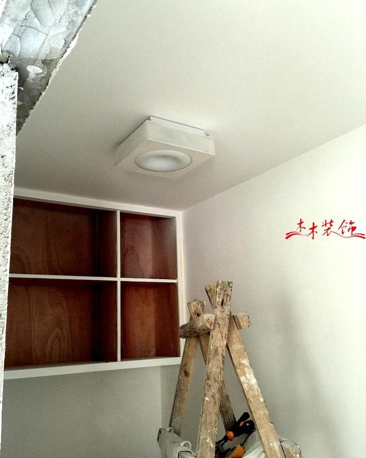 成都木木装修队灯具安装现场 装修现场