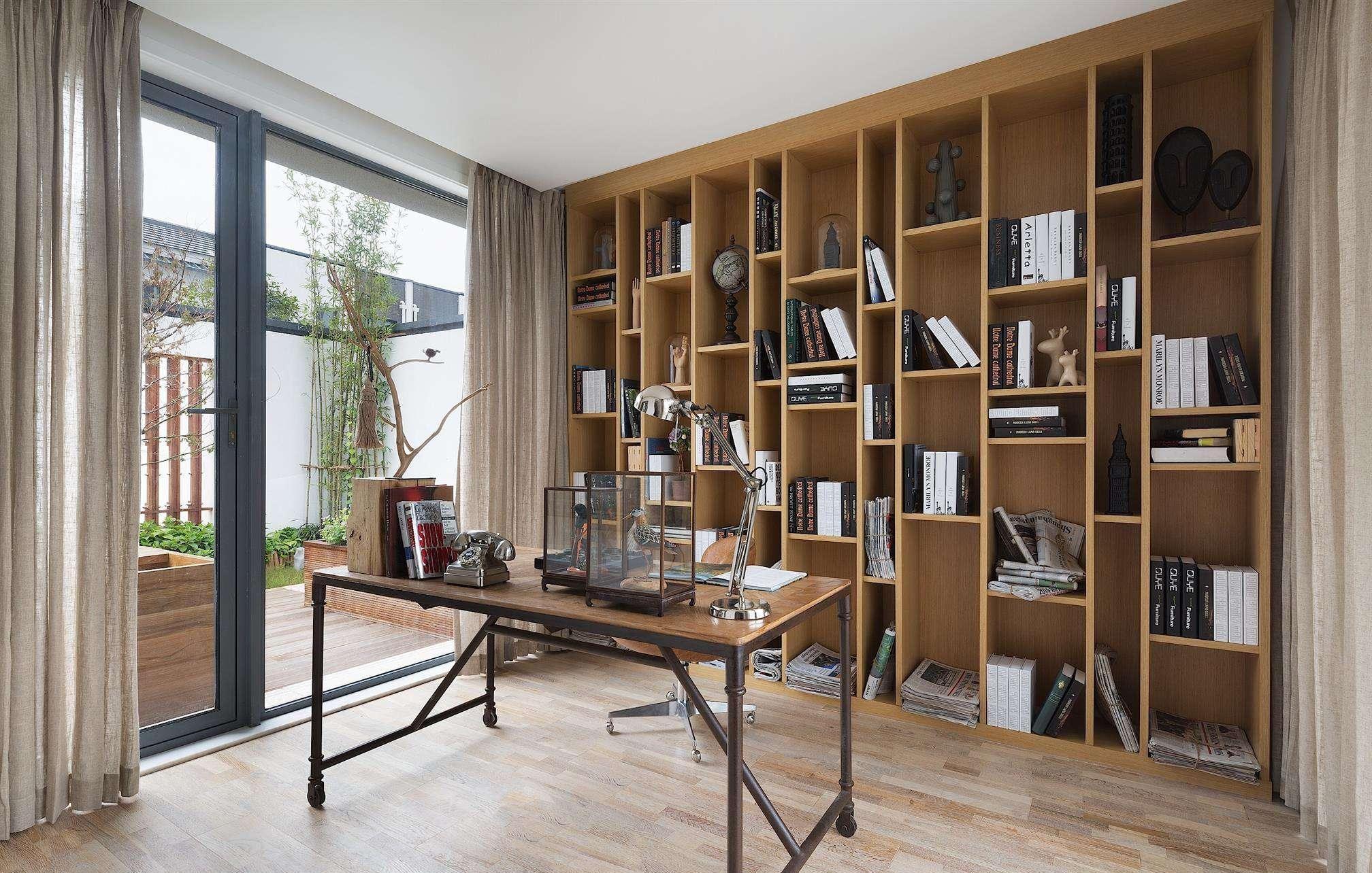 书房装修也可以很温馨