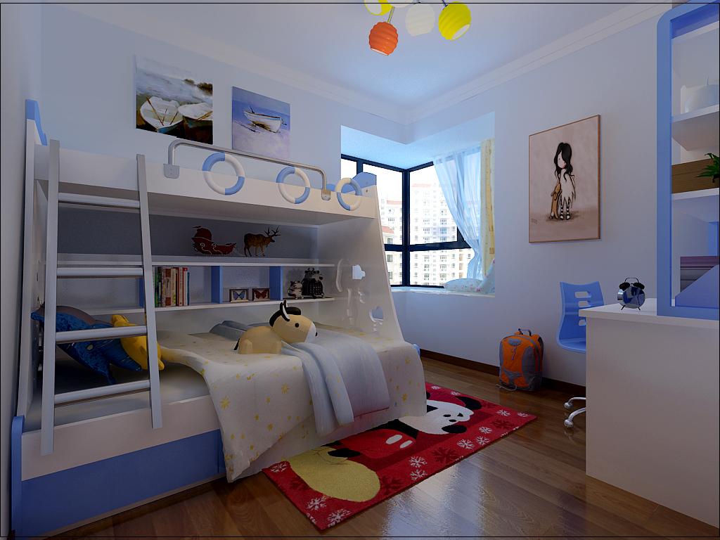 儿童房  儿童房设计可以多姿多彩,但有以下几个原则